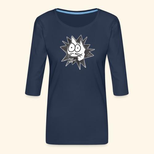 Glotzi die Glotzkatze - Frauen Premium 3/4-Arm Shirt