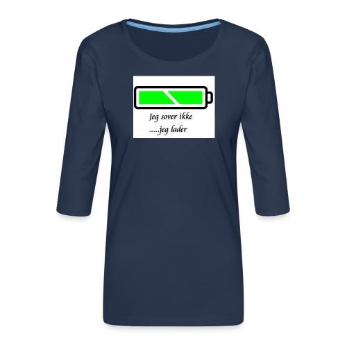 lader_2 - Premium T-skjorte med 3/4 erme for kvinner