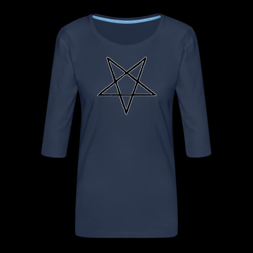 Pentagram4 png - Frauen Premium 3/4-Arm Shirt