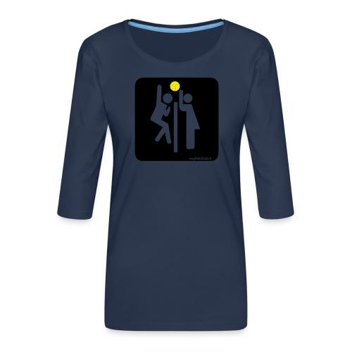 Toilet Volley - Maglietta da donna premium con manica a 3/4
