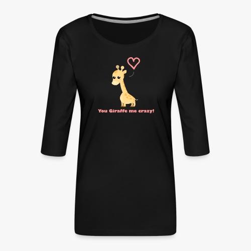 Giraffe Me Crazy - Dame Premium shirt med 3/4-ærmer