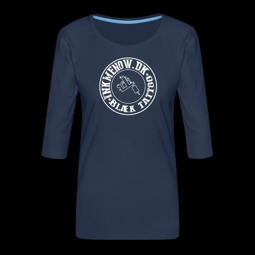 logo hvid png - Dame Premium shirt med 3/4-ærmer
