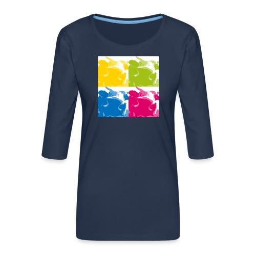 4 Kühe - Frauen Premium 3/4-Arm Shirt