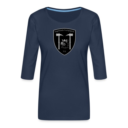 Kompanim rke 713 m nummer gray ai - Premium-T-shirt med 3/4-ärm dam