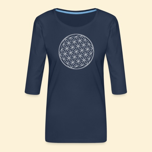 Lebensblume - Frauen Premium 3/4-Arm Shirt