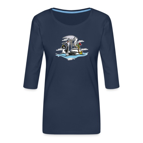 Birds of a Feather - Women's Premium 3/4-Sleeve T-Shirt