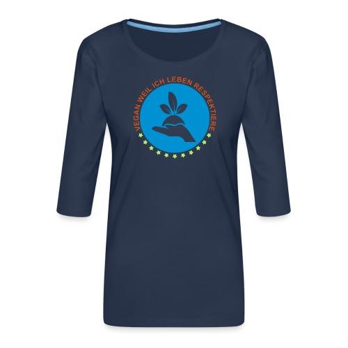 VEGAN - Frauen Premium 3/4-Arm Shirt
