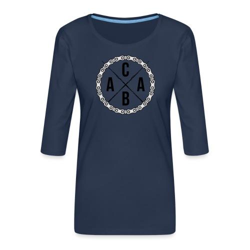 ACAB All Cyclists Are Beautiful - Frauen Premium 3/4-Arm Shirt