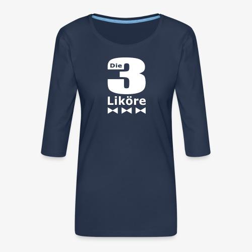 Die 3 Liköre - logo weiss - Frauen Premium 3/4-Arm Shirt