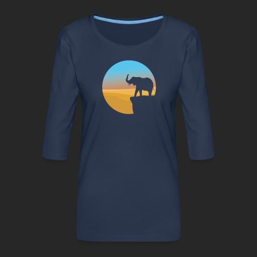 Sunset Elephant - Women's Premium 3/4-Sleeve T-Shirt