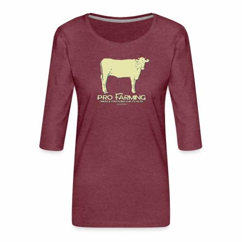 PRO Farming - Maglietta da donna premium con manica a 3/4