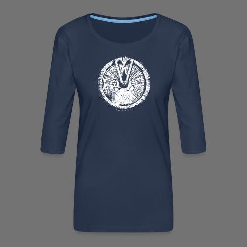Maschinentelegraph (white oldstyle) - Women's Premium 3/4-Sleeve T-Shirt