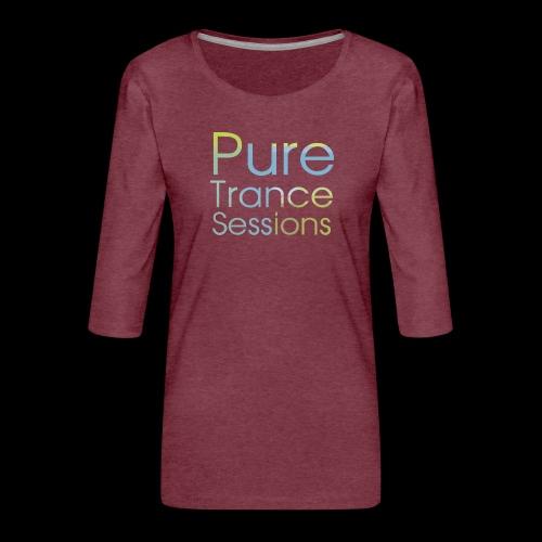 pts text hd - Women's Premium 3/4-Sleeve T-Shirt