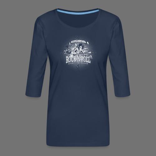 Rock 'n' Roll - Sounds Like Heaven (white) - Women's Premium 3/4-Sleeve T-Shirt