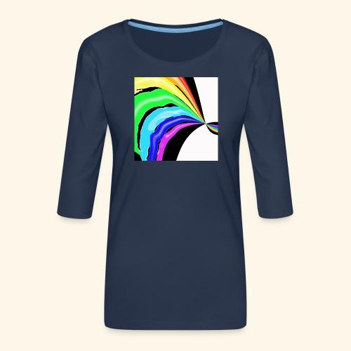 Arcobaleno pop - Maglietta da donna premium con manica a 3/4
