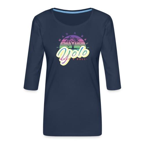 yolo - Koszulka damska Premium z rękawem 3/4