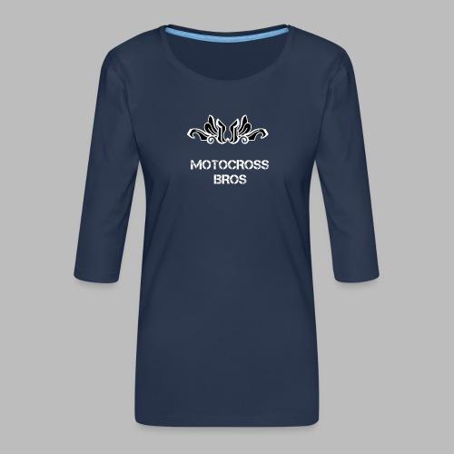 Motocrossbros - Premium-T-shirt med 3/4-ärm dam