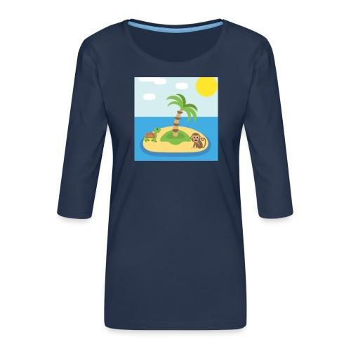 apa - Premium-T-shirt med 3/4-ärm dam
