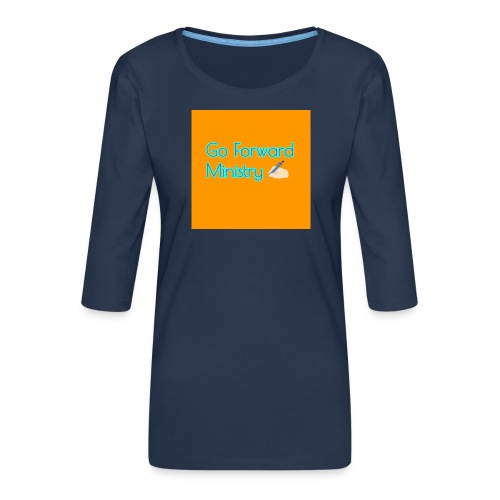 gå framåt ministeriet - Premium-T-shirt med 3/4-ärm dam