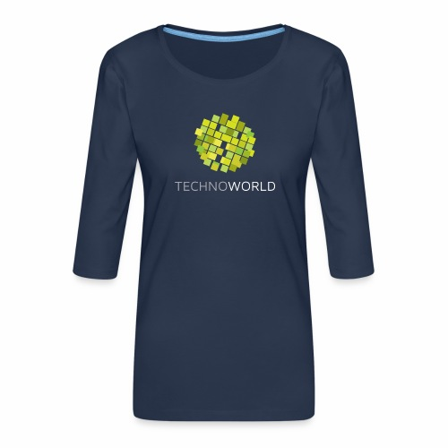 Techno World - Frauen Premium 3/4-Arm Shirt