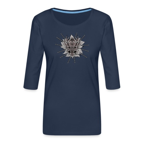 Lotus Of The Samurai - Vrouwen premium shirt 3/4-mouw