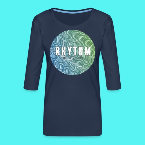Rhythm On The Run Logo - Women's Premium 3/4-Sleeve T-Shirt