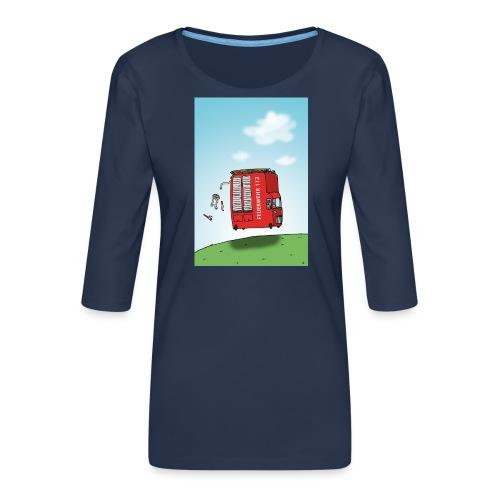 Feuerwehrwagen - Frauen Premium 3/4-Arm Shirt