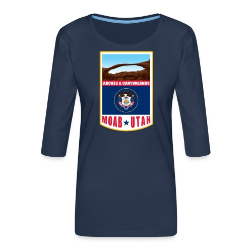 Utah - Moab, Arches & Canyonlands - Women's Premium 3/4-Sleeve T-Shirt