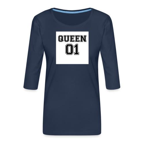 Queen 01 - T-shirt Premium manches 3/4 Femme