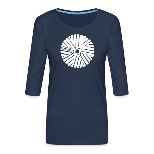 White chest logo sweat - Women's Premium 3/4-Sleeve T-Shirt