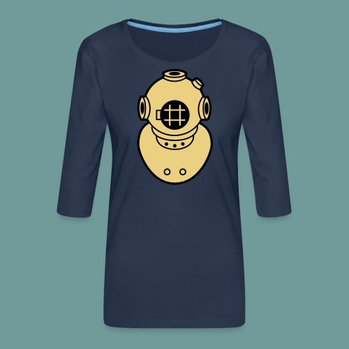 scaph_02 - T-shirt Premium manches 3/4 Femme