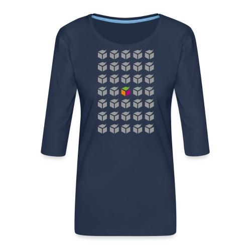 grid semantic web - Women's Premium 3/4-Sleeve T-Shirt