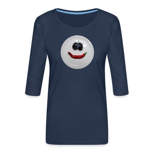 TIAN GREEN - Hot Smile - Frauen Premium 3/4-Arm Shirt