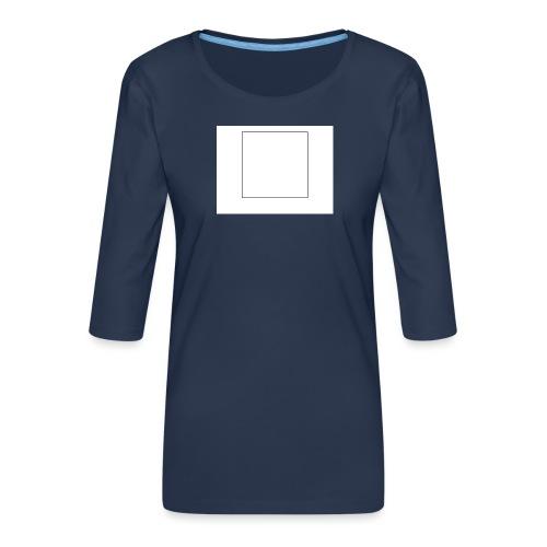 Square t shirt - Vrouwen premium shirt 3/4-mouw