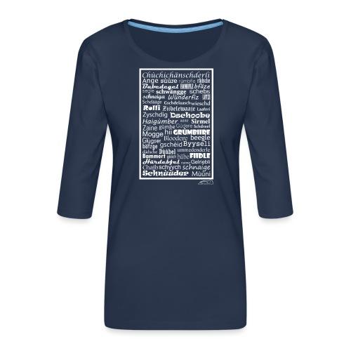 Alemannisch - Frauen Premium 3/4-Arm Shirt