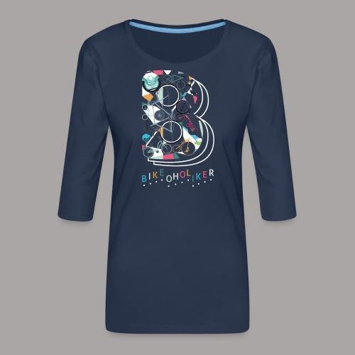 Bikeoholiker Tshirt für Frauen - Frauen Premium 3/4-Arm Shirt