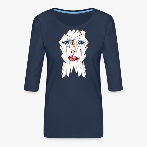 Pokerface - Women's Premium 3/4-Sleeve T-Shirt