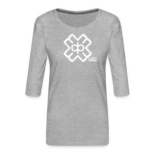 July D3EP Blue Tee - Women's Premium 3/4-Sleeve T-Shirt