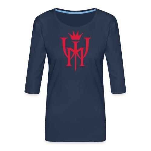 Logo MW Czerwone - Koszulka damska Premium z rękawem 3/4
