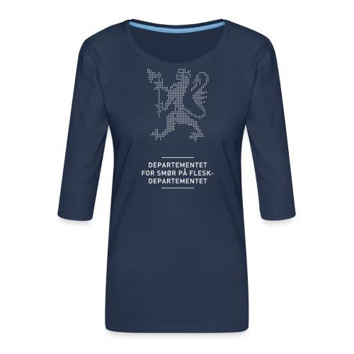 Departementsdepartementet (fra Det norske plagg) - Premium T-skjorte med 3/4 erme for kvinner