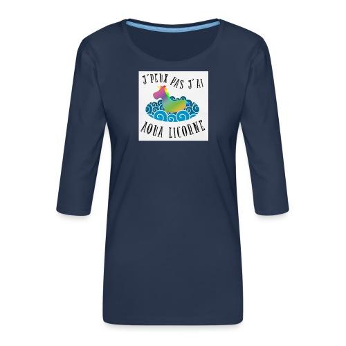 image - T-shirt Premium manches 3/4 Femme