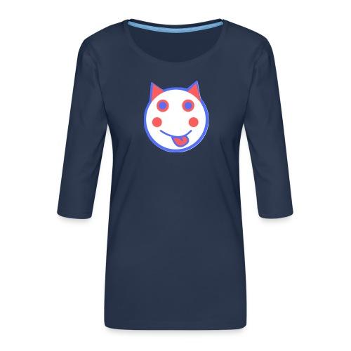 Red White And Blue - Alf Da Cat - Women's Premium 3/4-Sleeve T-Shirt
