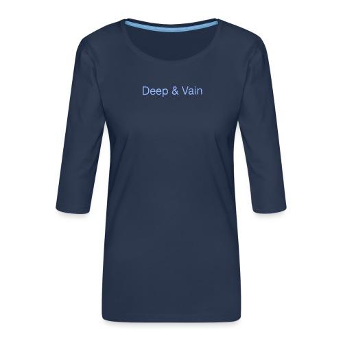 Deep&Vain Text Logo - Vrouwen premium shirt 3/4-mouw