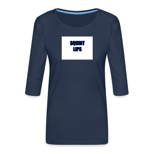 Squint Lips Merch - Women's Premium 3/4-Sleeve T-Shirt