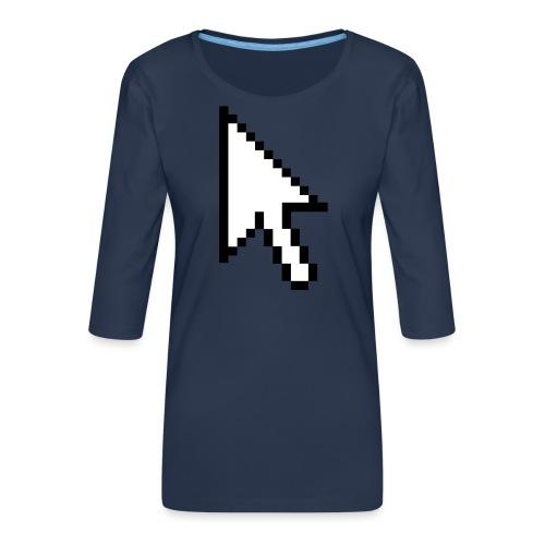 Mouse Arrow - Vrouwen premium shirt 3/4-mouw