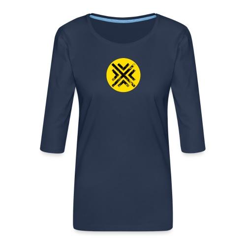 Símbolo Central - Camiseta premium de manga 3/4 para mujer