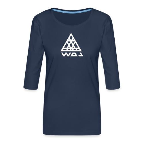 Triangel Konst - Premium-T-shirt med 3/4-ärm dam