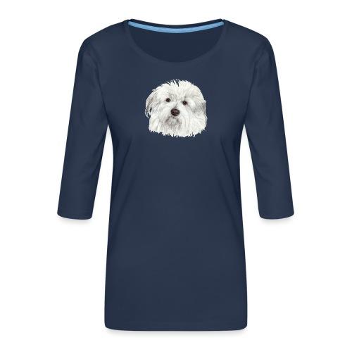 coton-de-tulear - Dame Premium shirt med 3/4-ærmer