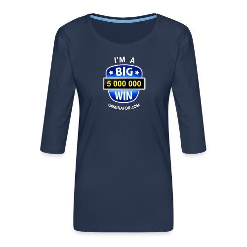 Big Win - Women's Premium 3/4-Sleeve T-Shirt