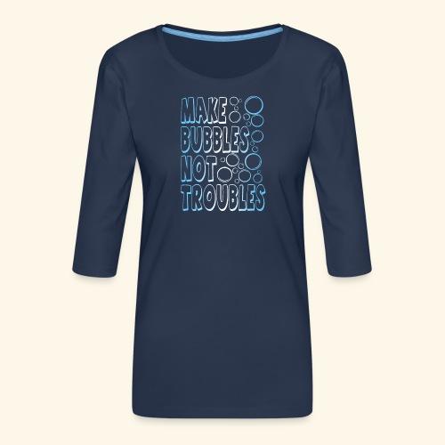 Bubbles001 - Vrouwen premium shirt 3/4-mouw